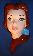 Schmid Disney Beauty & The Beast BELLE Hand Painted Ceramic Porcelain Wall Mask