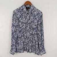 Pendleton Women's Petite 14 Blouse Button Up Shirt Long Sleeve 100% Rayon sz 14