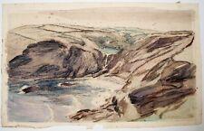 Vernon Wethered (1865–1952) landscape watercolour, Pentargon, Boscastle.