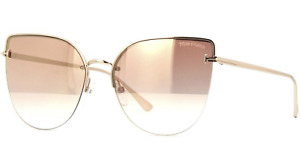 TOM FORD Ingrid-02 FT0652 33Z Sunglasses Gold Frame Rose Gold Gradient Mirror