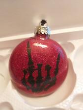 Devil Horns Metal Horror Red Glitter Christmas Ornament