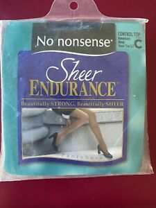 No nonsense Sheer Endurance Pantyhose Control Top Size C American Navy SJ1