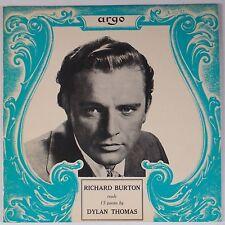 DYLAN THOMAS: Read By Richard Burton ARGO UK SW 503 ORIG Mono LP poetry NM-