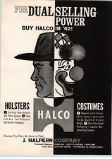 1962 PAPER AD Halco Toy Cowboy Holsters Wizard Of Oz Costumes Plastic Block City