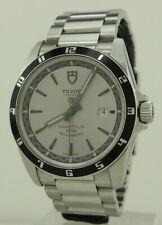 Tudor Ref 20500N Steel 41mm Auto Silver Dial Grantour Date On Bracelet