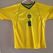 Mens RONALDINHO Soccer Football Shirt Brazil Yellow 10 Araujo Sports Large L