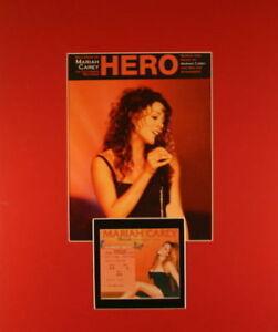 MARIAH CAREY 1993 HERO TOUR MATTED SHEET MUSIC POSTER & WEMBLEY ARENA TICKET