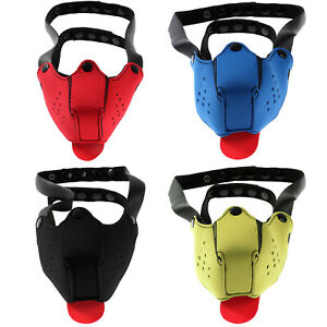 Unisex Straps Dog Head Mask Fancy Cosplay Props Adult Toys Costume Accessories