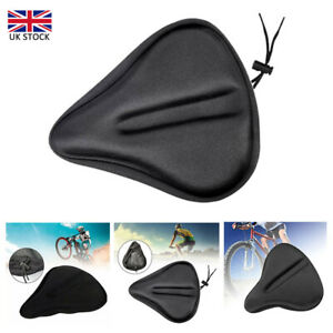 Bike Bicycle Cushion Seat Cover Gel Saddle Pad Padded Soft Extra Wide Comfort UK