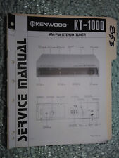 Kenwood KT-1000 service manual original repair book stereo tuner radio hi/fi