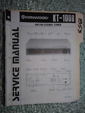 Kenwood KT-1000 service manual original repair book stereo tuner radio hi/fi