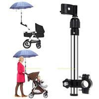 Einstellbar Kinderwagen Schirmhalter Regenschirm Halterung Sonnerschirm Halter
