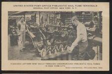 Postcard NEW YORK CITY NY  Post Office Pneumatic Tube Sending Terminals 1920's