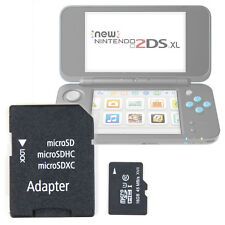 16 GB MicroSD Memory Card (W/ MicroSD to SD Adapter) For The Nintendo 2DS XL
