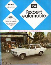 RTA revue technique automobile N° 82 OPEL ASCONA 1200 1600 1900 S