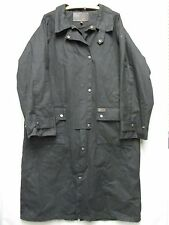 W3297 Outback Black Oil Coevered Cotton Snap Up Long Slicker Coat Men MD