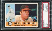 1960 Topps Baseball #12 MILT PAPPAS Baltimore Orioles PSA 7 NM