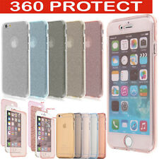 For Apple iPhone 5 5S SE 6/6S 7 Shockproof 360 Silicone Glitter Case Cover