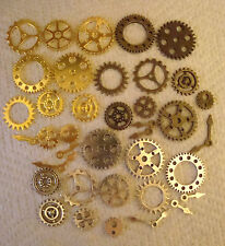 40  STEAMPUNK  METAL MIXED COLOUR CHARMS  SILVER.GOLD.BRONZE  COLOUR