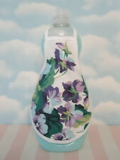 Waverly Sweet Violets Lavender Cottage Kitchen Bathroom Soap Lotion Bottle Apron