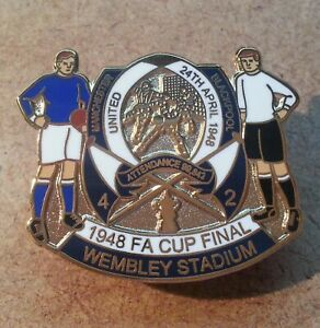 1948 FA CUP FINAL - BLACKPOOL v MANCHESTER UNITED BADGE