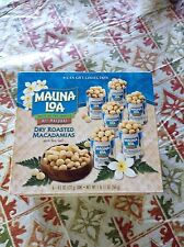 *2 Boxes of Macadamia Nuts - Mauna Loa - Dry Roasted -2/ 6 x 4.5 oz Discounted.