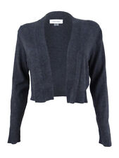 Calvin Klein Women's Elbow Patch Shrug L, Charcoal