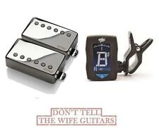 EMG JH SET JAMES HETFIELD CHROME STANDARD SPACED SHORT SHAFT POTS ( FREE TUNER )