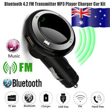 Wireless Hands-Free USB Charge LED MP3 BT Car FM Transmitter With MIC For iPhone