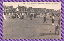 CARTOLINA - 62 - LE TOUQUET-PARIS-Plage - La Spiaggia e les Cabine