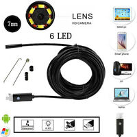 10M Android PC HD Endoscope Waterproof Snake Borescope USB Inspection Camera 7MM
