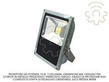 Dura proiettore led faro faretto 15w slim mm 130x60x170h luce naturale 4000k 113