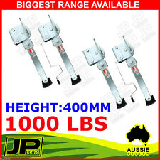 X4 CORNER LEGS DROP DOWN STABILIZERS 400MM HANDLE 1000LBS CARAVAN CAMPER TRAILER