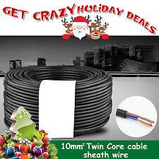 OZ Car 10MM2 Twin Sheath Core Cable 12V Caravan Trailer Dual Battery Wire 10M