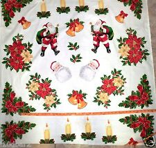 CHRISTMAS FABRIC PANEL VIP FABRIC CRAFT PANELS SANTA  APPLIQUES BTY NEW