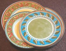 """Formation Enamelware Metal Plates. 2 salad 9"""", 2 Dinner 11"""" with patterns"""