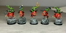 Warhammer Orcs and Goblins -  Squig Hoppers x 5 - Metal Painted Very well