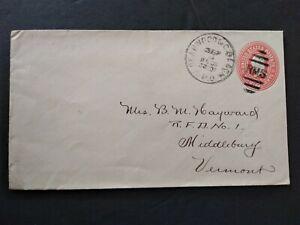 RPO: Deanwood & C. Beach 1901 Cover, Washington DC & Maryland Railroad