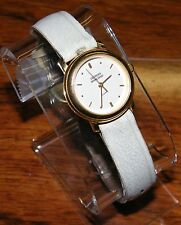 Guess 1989 Georges Marciano Quartz White Faced & White Leather Strapped Watch!