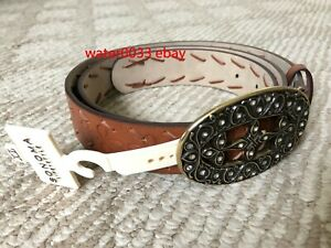 New Sonoma Women's Brown Faux Leather Belt Size X Large with $30 tag From Kohls