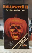 Halloween 2 VHS Horror/Slasher MCA Rainbow Michael Myers Rare!!