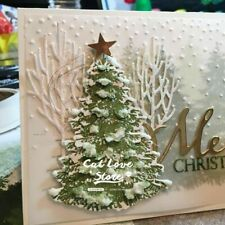 Christmas Tree Cutting Dies Stencil DIY Scrapbooking Paper Card Craft Cutter Kit