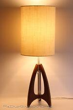 Retro Grain Table Lamp - Danish Modern - Atomic - Mid-Century Modern - Walnut