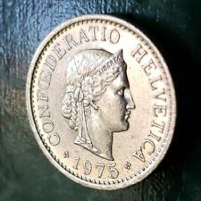 1975.  Switzerland Helvetica  10  Cents Coin.  🐤🐤.