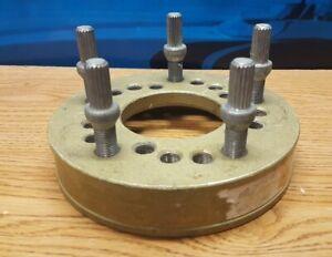 Vintage Aluminum 5 Lug Wheel Adapter for Bubble Tire Balancer. Like Coats PM-203