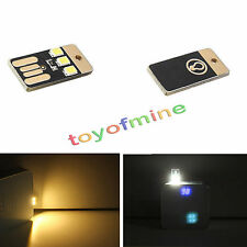 2PCS Mini LED Night Light Portable USB Power Card Lamp Bulb Led Keychain