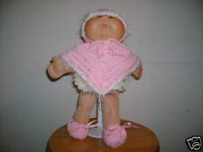 Crochet Cabbage Patch Doll Clothes~~Poncho/Beanie Set~Handmade