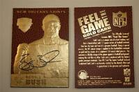 REGGIE BUSH Feel The Game 2006 ROOKIE Gold Card NM-MT Football Textured * BOGO *
