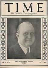 Time Magazine  May 17, 1926 Philip Albright Small Frankin
