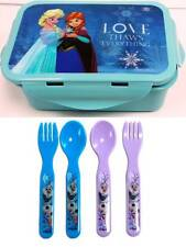 Disney Frozen  Lunch Container Box with Spoon and Fork set  by ZAK BPA Free